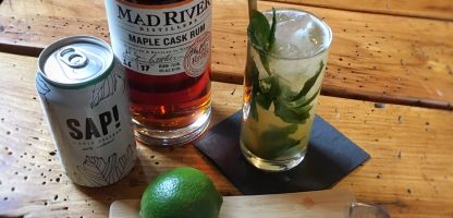 What we're drinking this maple season - Maple Cask Rum Mojitos!